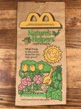 "McDonald's ""Nature's Helpers"" Happy Meal Paper Bag マクドナルド ビンテージ 紙袋 ハッピーミール 90年代"