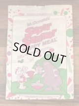 "McDonald's ""Super Summer"" Happy Meal Paper Bag マクドナルド ビンテージ 紙袋 ハッピーミール 80年代"