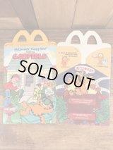 "McDonald's ""Garfield"" Happy Meal Box マクドナルド ビンテージ ハッピーミールボックス ミールトイ 80年代"