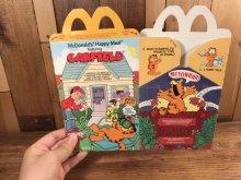 """他の写真3: McDonald's """"Garfield"""" Happy Meal Box マクドナルド ビンテージ ハッピーミールボックス ミールトイ 80年代"""