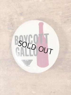 Boycott Galloのユニオンラベルのヴィンテージ缶バッチ
