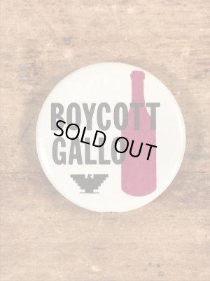 Boycott Galloのビンテージ缶バッジ
