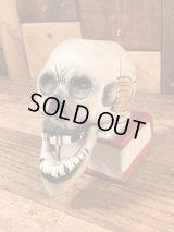 Skull On Book Nodder Ceramic Match Holder スカルオンブック ビンテージ マッチホルダー 陶器 50年代