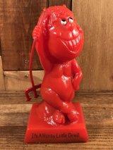 "Red Devil ""I'm A Horny Little Devil"" Message Doll レッドデビル ビンテージ メッセージドール シリスカルプ 70年代"