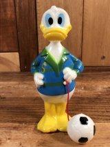 """Disney Donald Duck """"Football"""" Wind-Up Toy ドナルドダック ビンテージ ワインドアップトイ ゼンマイ人形 70年代"""