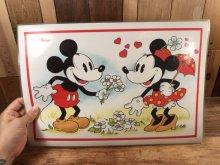 """他の写真2: Disney """"Mickey & Minnie Mouse"""" Vinyl Placemat ミッキー&ミニーマウス ビンテージ ランチョンマット プレースマット 70〜80年代"""
