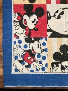 """他の写真1: Disney """"Mickey Mouse"""" Bandana ミッキーマウス ビンテージ バンダナ 80年代"""