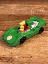 "Aviva Snoopy Woodstock ""Sports Car"" Digest Mini Car ウッドストック ビンテージ ミニカー スヌーピー 70〜80年代"