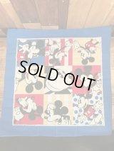 "Disney ""Mickey Mouse"" Bandana ミッキーマウス ビンテージ バンダナ 80年代"