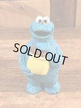 "Applause Sesame Street ""Cookie Monstere"" PVC Figure クッキーモンスター ビンテージ PVCフィギュア セサミストリート 80年代"