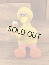 "Applause Sesame Street Big Bird ""Sit Down"" PVC Figure ビッグバード ビンテージ PVCフィギュア セサミストリート 80年代"