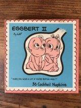 Eggbert II 36 Cocktail Napkins エッグビート ビンテージ ペーパーナプキン 紙ナプキン 60年代