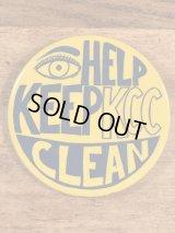 Help Keep KCC Clean Pinback ケントクリーンキャンペーン ビンテージ 缶バッジ 缶バッチ 〜70年代