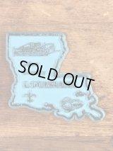 """""""Louisiana"""" State Souvenir Rubber Magnet ルイジアナ州 ビンテージ マグネット スーベニア 80年代〜"""