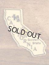 """""""California"""" State Souvenir Rubber Magnet カリフォルニア州 ビンテージ マグネット スーベニア 90年代"""