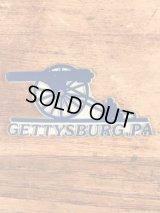 """Gettysburg, PA"" Souvenir Rubber Magnet ゲティスバーグ ビンテージ マグネット スーベニア 80年代〜"