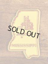 """""""Mississippi"""" State Souvenir Rubber Magnet ミシシッピ州 ビンテージ マグネット スーベニア 90年代"""