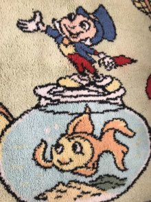 他の写真2: Disney Pinocchio Wall Rug ピノキオ ビンテージ ラグマット 玄関マット 60年代