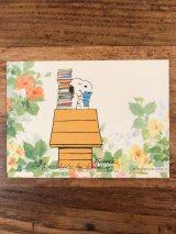 "Hallmark Peanuts Snoopy ""Reading"" Greeting Card スヌーピー ビンテージ グリーティングカード 70〜80年代"