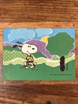 "Hallmark Peanuts Snoopy ""Running"" Greeting Card スヌーピー ビンテージ グリーティングカード 70〜80年代"
