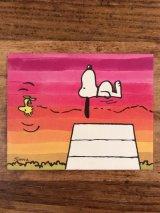 "Hallmark Peanuts Snoopy & Woodstock ""Air Swimming"" Greeting Card スヌーピー ビンテージ グリーティングカード ウッドストック 70〜80年代"
