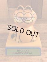 "Garfield ""Big Fat Hairy Deal"" Plastic Push Gimmick Toy ガーフィールド ビンテージ ギミックトイ 80年代"