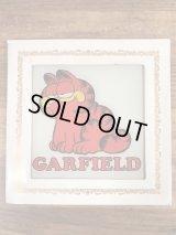 Garfield Wall Art Glass Plate ガーフィールド ビンテージ ガラスプレート 70〜80年代