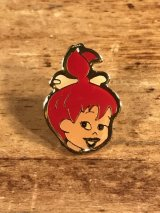 "Flintstones ""Pebbles"" Enamel Pins ペブルス ビンテージ ピンバッジ フリントストーン ピンズ 80年代〜"