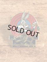 "Looney Tunes Bugs Bunny ""50 Happy Birthday Bugs"" Pins バッグスバニー ビンテージ ピンバッジ ルーニーテューンズ ピンズ 80年代"