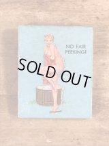 "Advertising Pin Up Girl ""No Fair Peeking!"" Matchbook ピンナップガール ビンテージ マッチブック 40〜50年代"