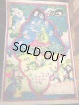 Alice In Wonderland Velvet Blacklight Poster アリスインワンダーランド ビンテージ ブラックライトポスター ベルベットプリント 60〜70年代