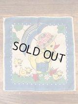 Chick Family Cotton Kids Handkerchief ひよこ ビンテージ キッズハンカチ 50年代