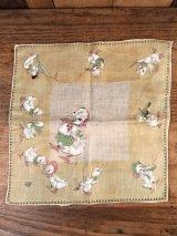 Duck Family Cotton Kids Handkerchief アヒル ビンテージ キッズハンカチ 50年代