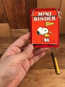 他の写真3: Butterfly Snoopy & Woodstock Mini Binder スヌーピー ビンテージ ミニバインダー ウッドストック 70〜80年代