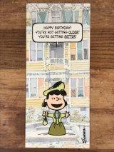 """Hallmark Peanuts Lucy """"Happy Birthday!"""" Greeting Card ルーシー ビンテージ グリーティングカード スヌーピー 70〜80年代"""