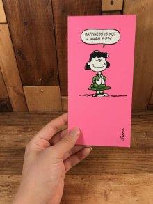 """他の写真3: Hallmark Peanuts Lucy """"Happiness Is Not..."""" Greeting Card ルーシー ビンテージ グリーティングカード スヌーピー 70〜80年代"""