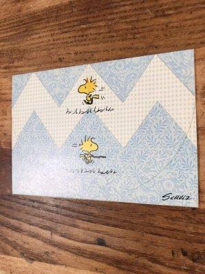 ホールマーク社製のスヌーピーのウッドストックのヴィンテージのメッセージカード