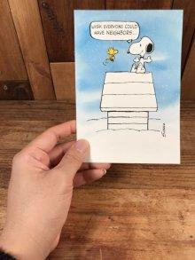 """他の写真3: Hallmark Peanuts Snoopy """"Wish Everyone Could..."""" Greeting Card スヌーピー ビンテージ グリーティングカード ウッドストック 70〜80年代"""