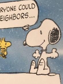 """他の写真1: Hallmark Peanuts Snoopy """"Wish Everyone Could..."""" Greeting Card スヌーピー ビンテージ グリーティングカード ウッドストック 70〜80年代"""