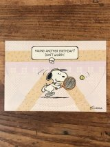 "Hallmark Peanuts Snoopy ""Having Another Birthday?..."" Greeting Card スヌーピー ビンテージ グリーティングカード 70〜80年代"