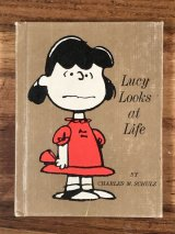 "Hallmark Peanuts ""Lucy Looks at Life"" Mini Picture Book ルーシー ビンテージ 絵本 スヌーピー 70年代"