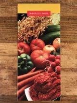 McDonald's Today Pamphlet マクドナルド ビンテージ パンフレット 紙物 90年代
