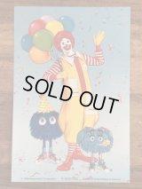 """McDonald's """"Ronald & Fry Kids"""" Postcard マクドナルド ビンテージ ポストカード 紙物 80年代"""