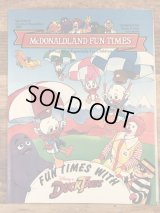 "McDonaldland Fun Times ""Duck Tales"" Magazine マクドナルド ビンテージ ファンタイムズ フリーペーパー 80年代"