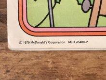 """他の写真2: Ronald McDonald """"1980"""" Coloring Calendar マクドナルド ビンテージ カラーリングブック ロナルド 80年代"""