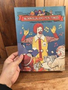 """他の写真3: McDonaldland Fun Times """"Sounds Like Fun!"""" Magazine マクドナルド ビンテージ ファンタイムズ フリーペーパー 80年代"""