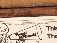 """他の写真2: Ronald McDonald Play-Time """"1978"""" Coloring Calendar マクドナルド ビンテージ カラーリングブック ロナルド 70年代"""