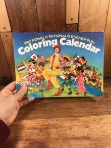 """他の写真3: Ronald McDonald Sticker Fun """"1982"""" Coloring Calendar マクドナルド ビンテージ カラーリングブック ロナルド 80年代"""