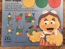 """他の写真1: McDonaldland Fun Times """"Fun With Shapes"""" Magazine マクドナルド ビンテージ ファンタイムズ フリーペーパー 80年代"""