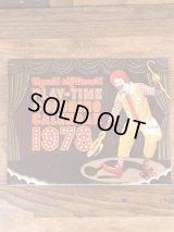 "Ronald McDonald Play-Time ""1978"" Coloring Calendar マクドナルド ビンテージ カラーリングブック ロナルド 70年代"